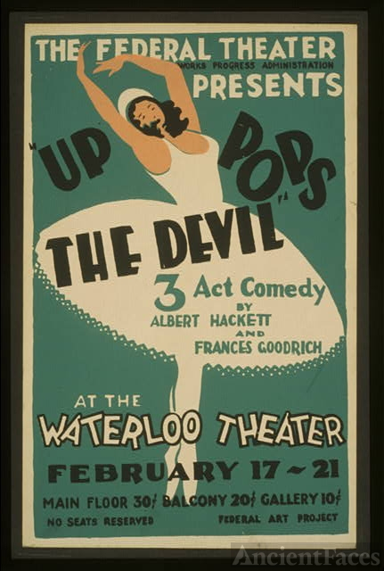 "The Federal Theatre presents ""Up pops the devil"" 3 act..."