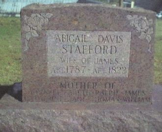 A photo of Abigail (Davis) Stafford
