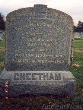 William Cheetham Family Tombstone