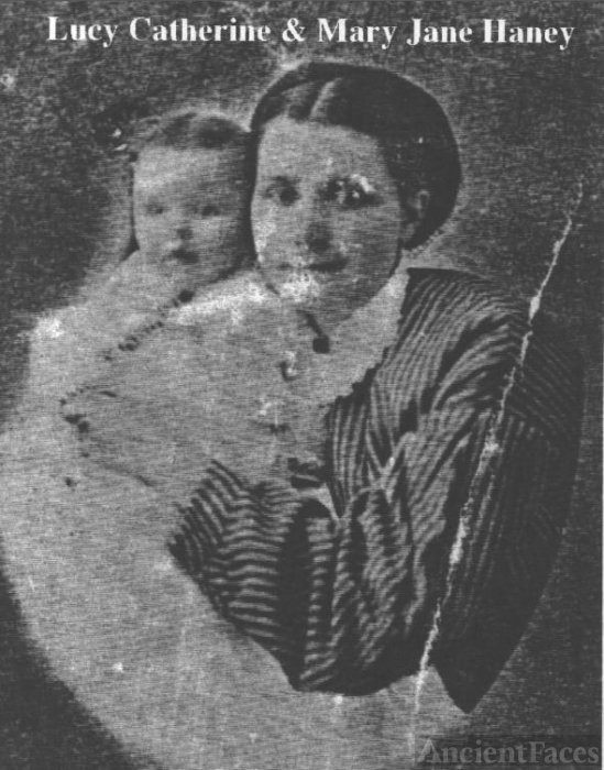 Lucy Catherine Crosley Haney and her daughter Mary