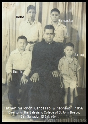Father Salomón Carballo & nephews , 1956
