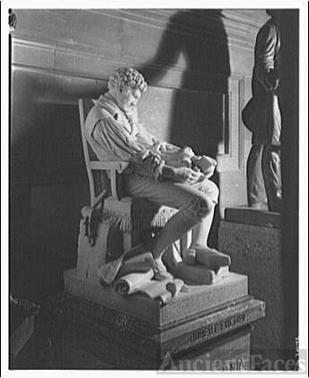 Statues and sculpture in Statuary Hall, U.S. Capitol....