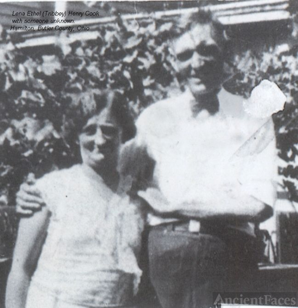 Lena (Tribbey) Henry Cook with someone unidentified