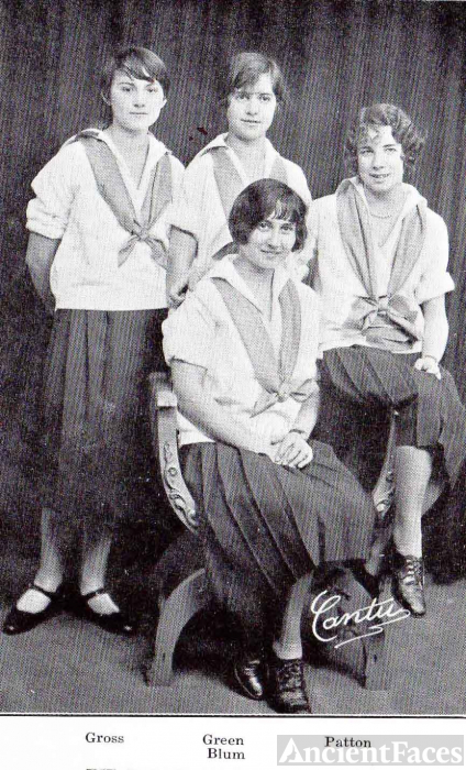 Hazel Gross & 1926 Captains, Girls Hockey Teams