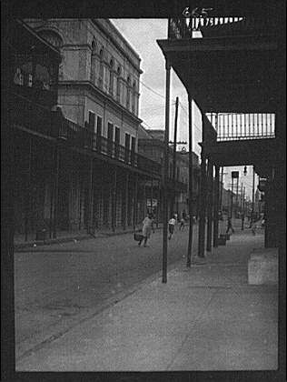"View down Royal Street to the ""Haunted House"" (Lalaurie..."