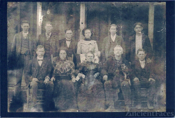 unidentified family, Cherokee North Carolina
