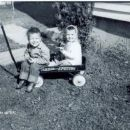 Tuttle children on a wagon