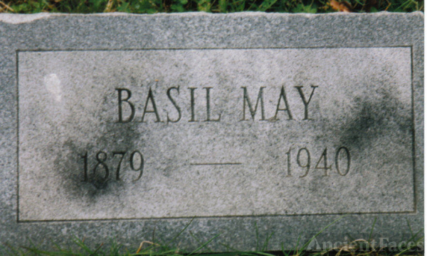 Headstone of Basil May