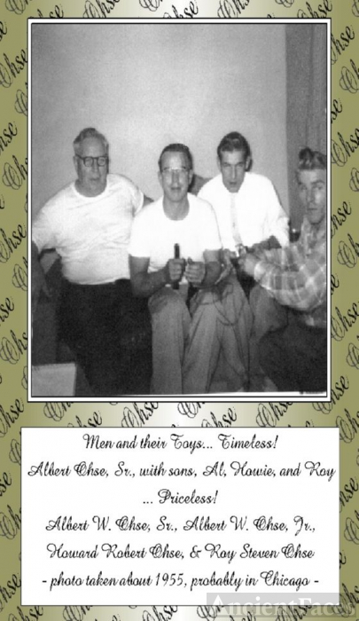 Albert Ohse with sons, Al, Howie, & Roy
