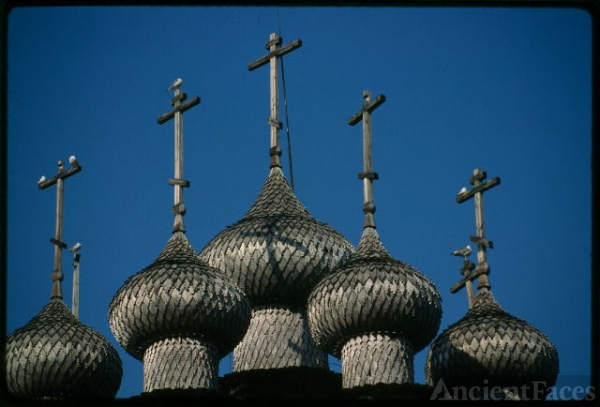 Church of the Intercession (1764), cupolas, southwest...