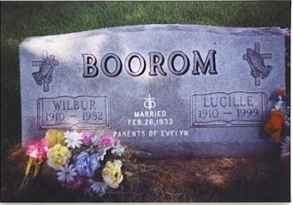 Tombstone of Wilbur & Lucille