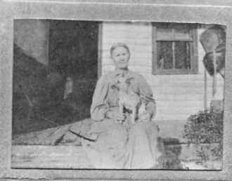SARAH FRANCES MARSHALL DOLLINS and her dog