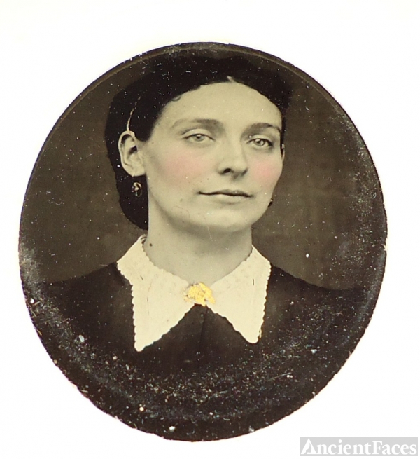 unknown lady, tintype