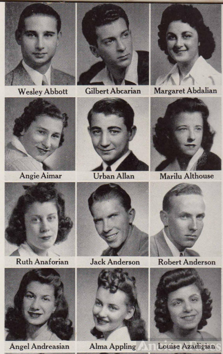Gilbert Abearian, 1942 Seniors from Fresno