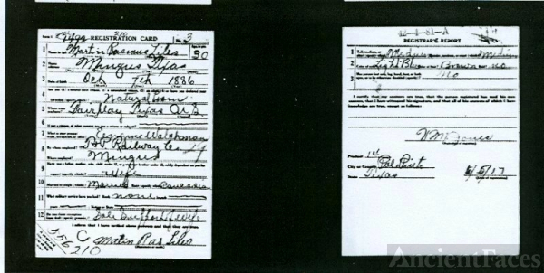 Martin Liles registration card