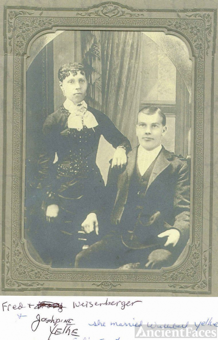 Frederick Weisenberger And his sister Josephine