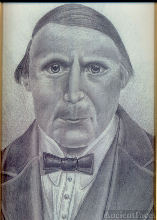 Pencil Portrait of my g-grandfather
