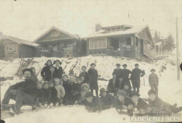 Winter Fun Near Green Lake, 1916