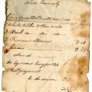 Chadwell Brittain 1842 Property Tax Receipt including slaves