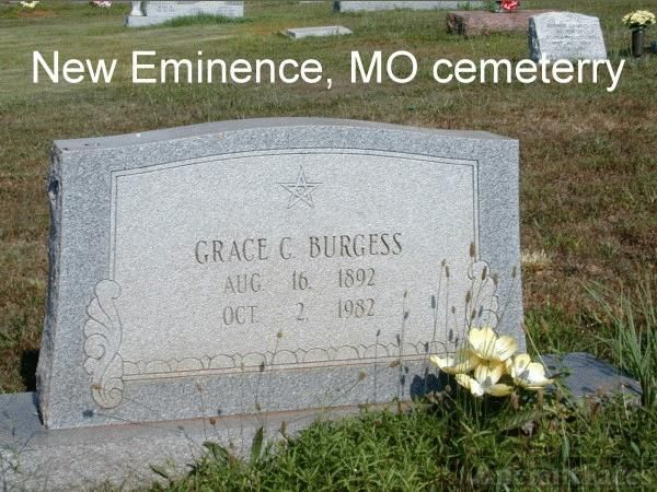 Headstone for Grace Burgess