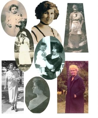 Martha Lucile Webb (Lucile) --collage