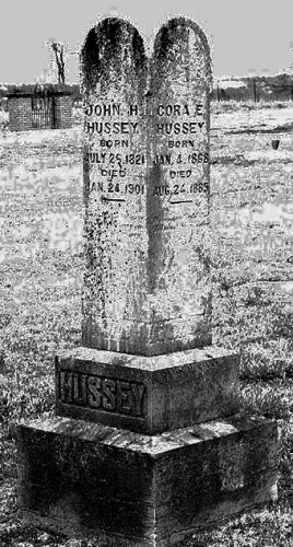 Gravestone of John Hibbard and Elizabeth Hussey