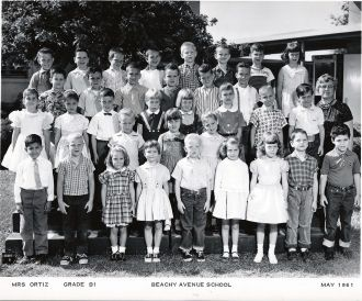 Beachy Avenue School CA, 1961