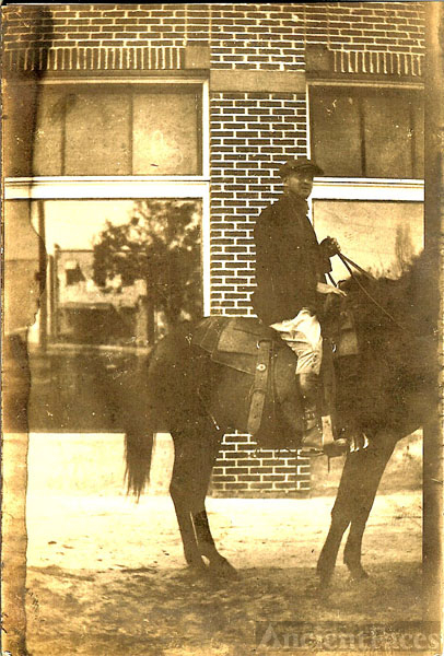 Unknown man on horse