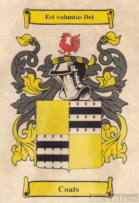 Coats Family Coat-of-Arms