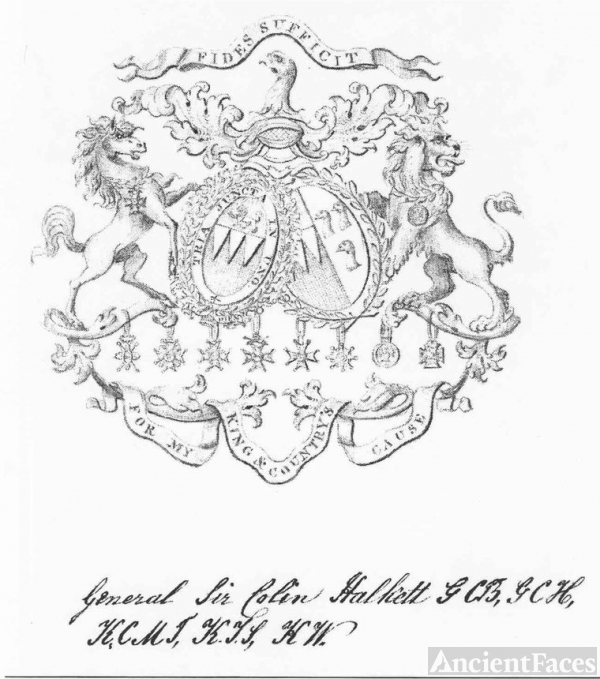 Coat of Arms of General Colin Halkett