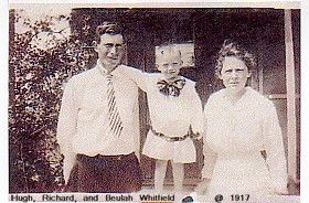 A photo of Hugh, Richard, and Beulah Lancaster Whitfield