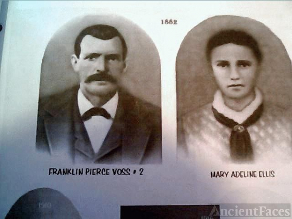Franklin Pierce Voss and wife Mary Adeline Ellis