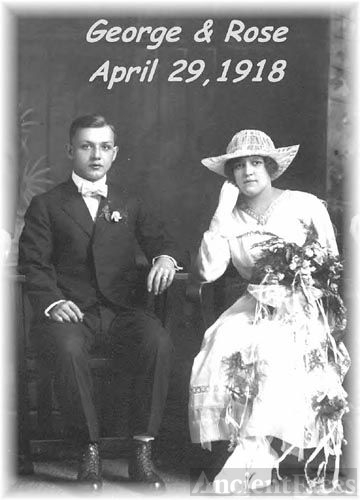 George & Rose Mock Wedding Day 1918