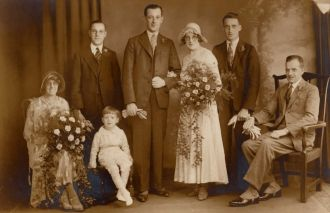 Sarah Jane Haworth wedding 1932