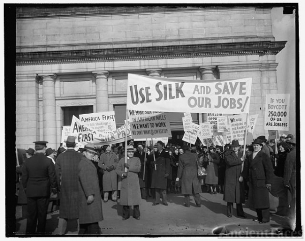Protest silk boycott. Washington, D.C., Jan. 28. Members...