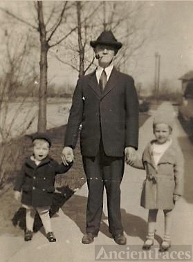 Grandpa Aubruner with Billy and  Betty