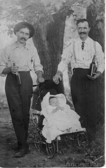 Baby Ernie w/ his father Frank & uncle ??