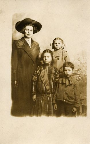 Woman and 3 children