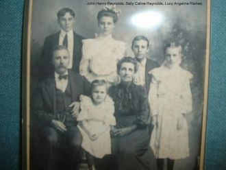 John Henry Reynolds/Lucy Angeline Raines family