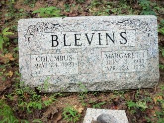Margaret (Stokes) Blevins Grave, West Virginia