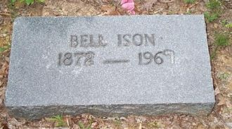 Bellw Boggs Ison headstone