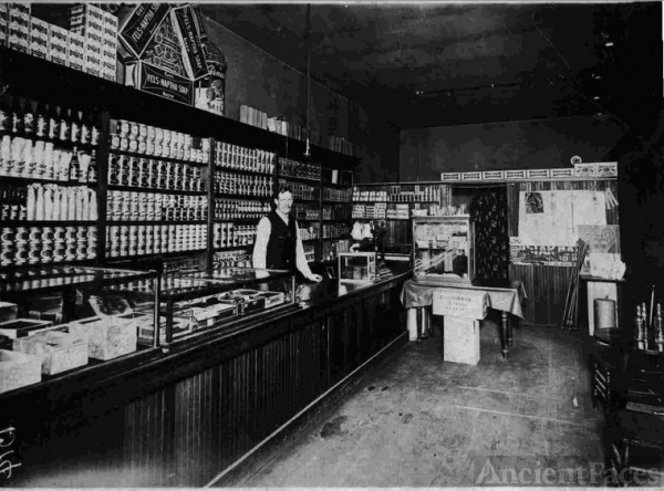 William Hamilton in his Store