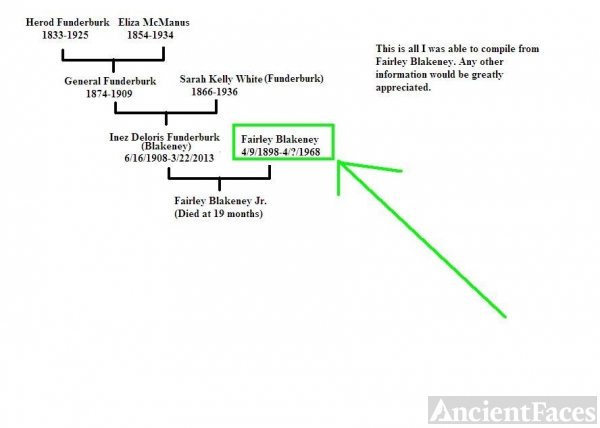 Fairley Blakeney family tree