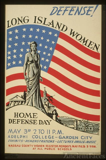 Defense! Long Island women : Home defense day : Exhibits...