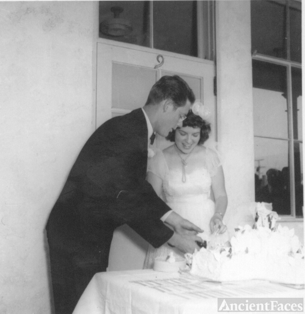 Donald & Peggy Johnson on their Wedding day