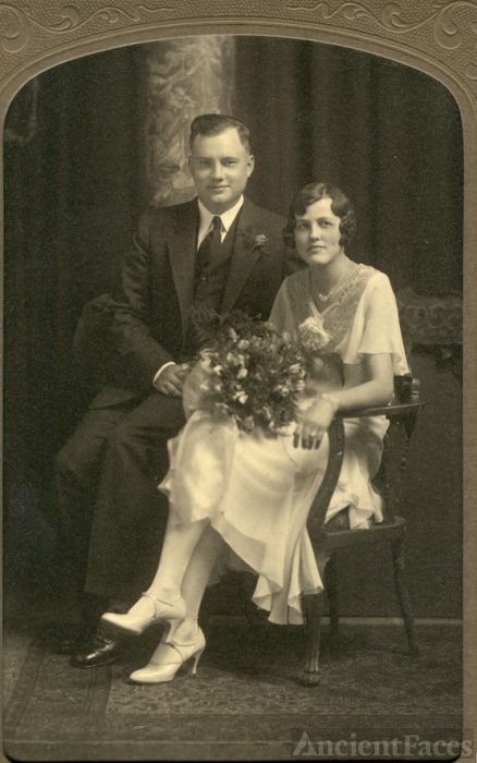 Oscar Robert Meyer & Thelma Ilean Sparks wedding 1930