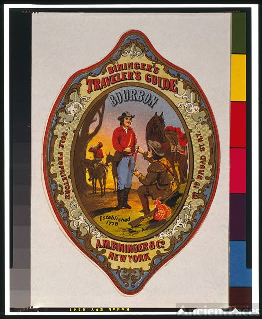 Bininger's Traveler's Guide Bourbon, A.M. Bininger & Co.,...