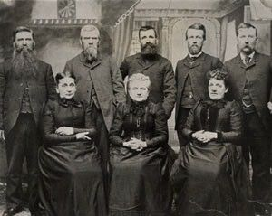 Daniel D Webster Family, 1880 Iowa