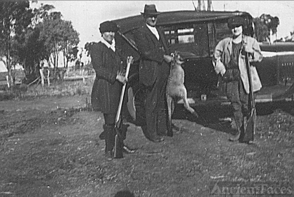 Clarice Bengough Kangaroo hunt in Australia