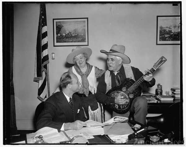 James Roosevelt serenaded on 30th birthday Washington,...